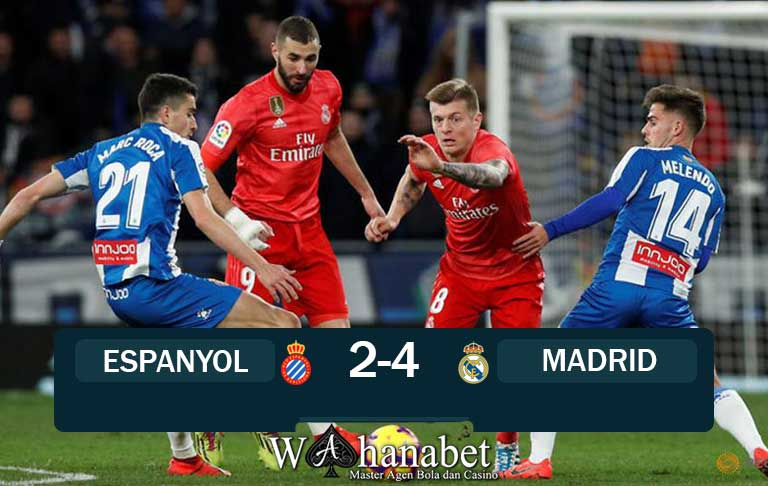 Hasil Pertandingan Espanyol vs Real Madrid