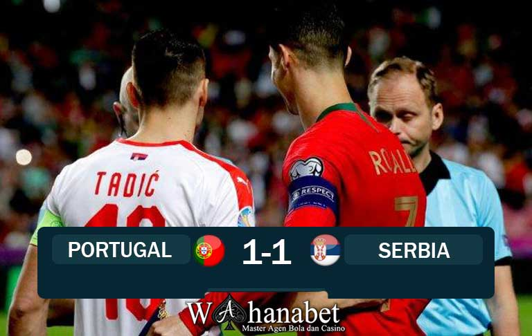 hasil pertandingan portugal vs serbia