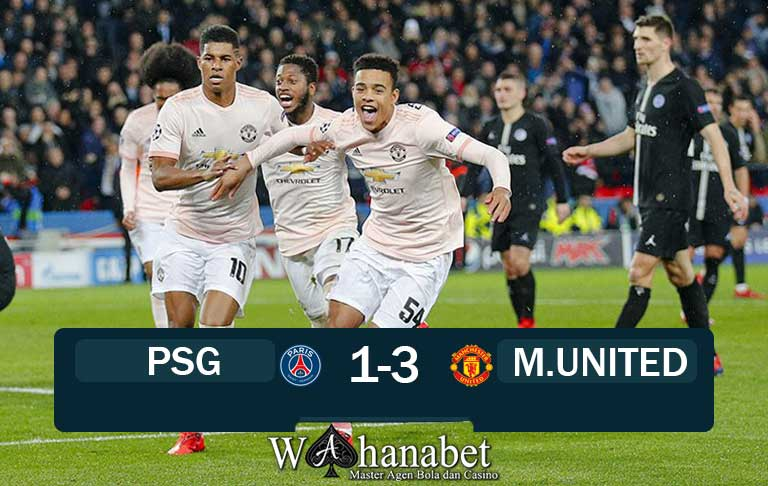 Hasil Pertandingan PSG vs Manchester United