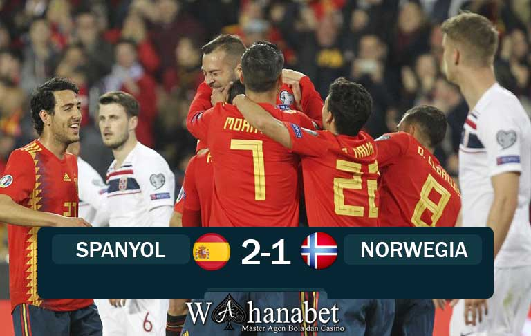 hasil pertandingan spanyol vs norwegia