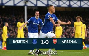 hasil pertandingan everton vs arsenal