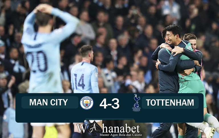 hasil pertandingan man city vs tottenham