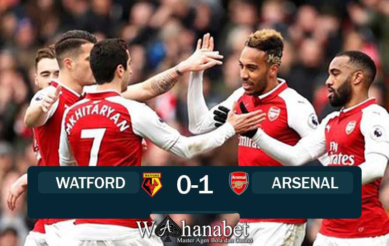 hasil pertandingan watford vs arsenal