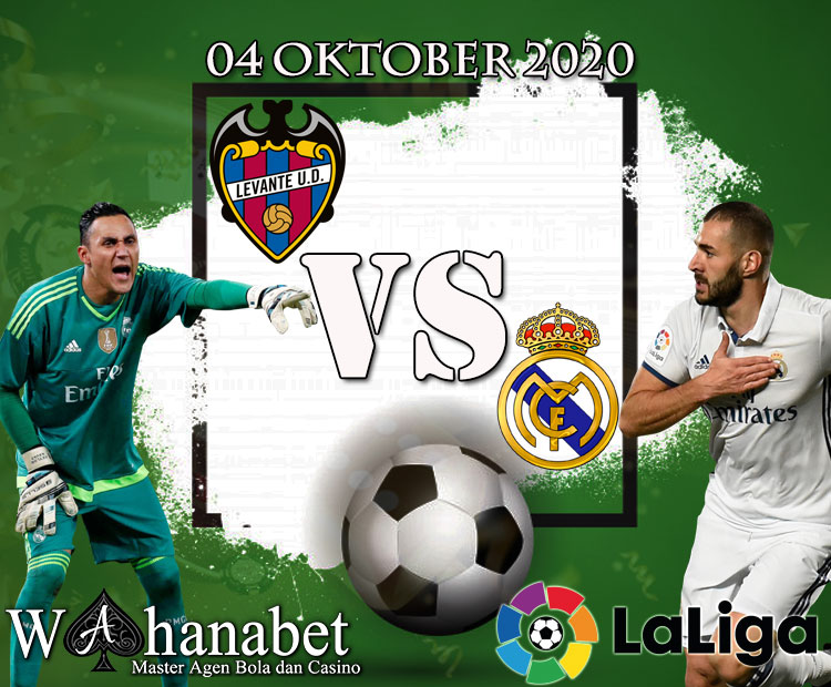 Prediksi Bola Pertandingan Levante vs Real Madrid 4 Oktober 2020